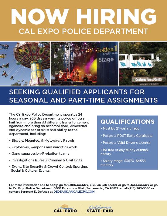Cal Expo Police Flyer